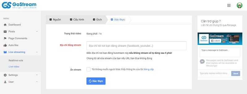 Sử dụng công cụ GoStream để Live Stream bán hàng