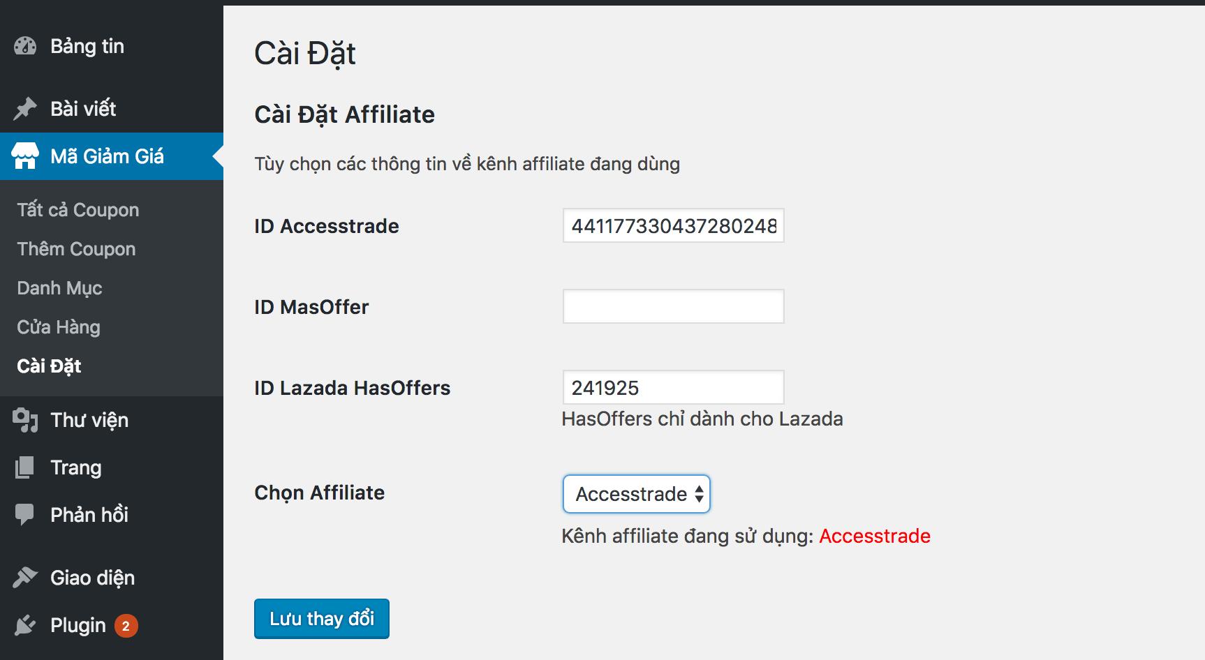 Plugin cập nhật mã giảm giá tự động