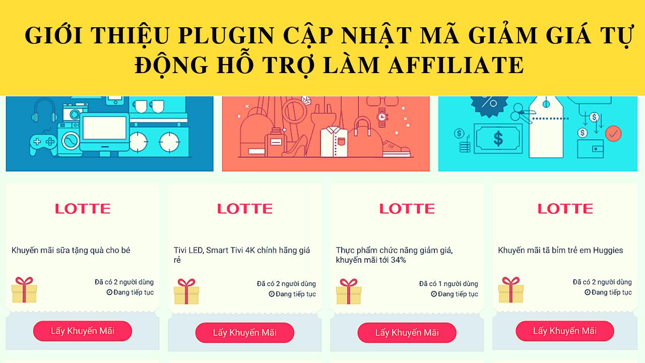 Plugin cập nhật mã giảm giá tự động hỗ trợ làm Affiliate 2018