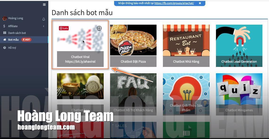 Mẫu Chatbot Viral miễn phí