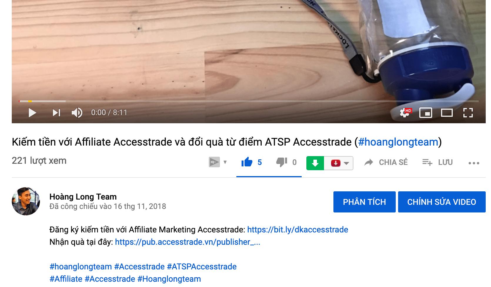 Thẻ hashtag Youtube trên tiêu đề video