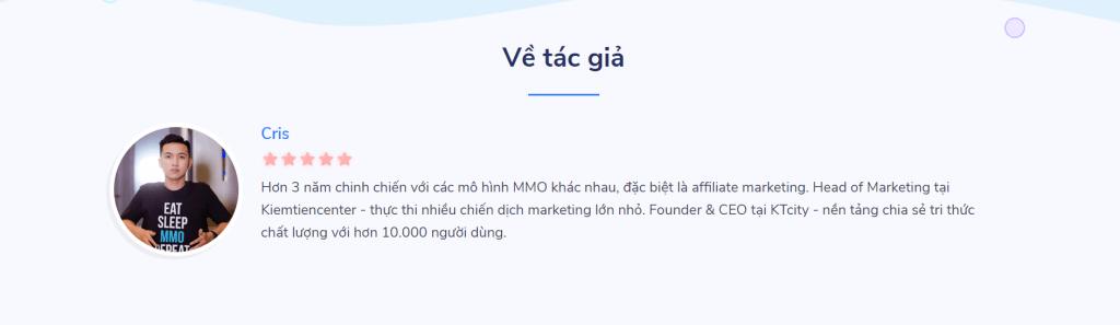 khóa học bắt đầu làm tiếp thị liên kết affiliate marketing của Cris