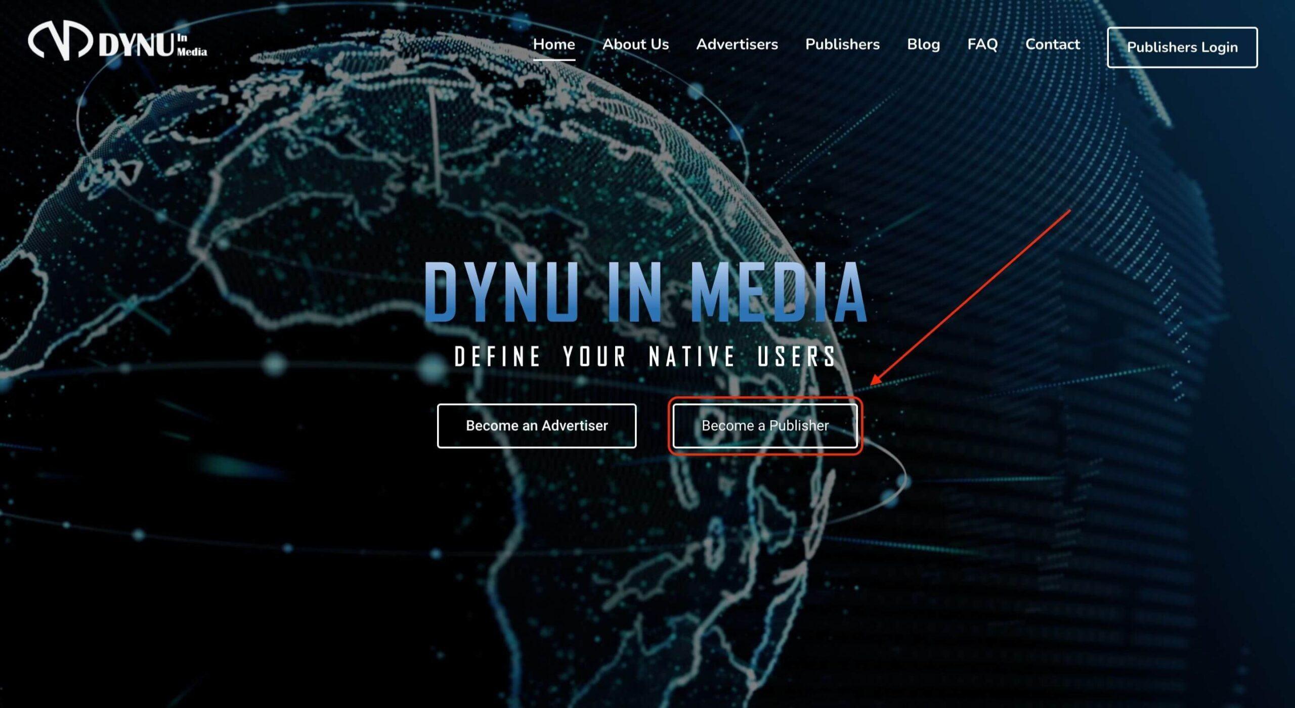 Lựa chọn để trở thành nhà quảng cáo hoặc nhà sản xuất trên Dynu In Media